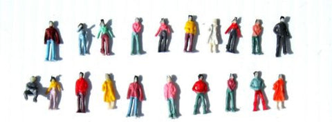 1:150 Scale (N Gauge Model Railway) Painted Figures - Pack of 100
