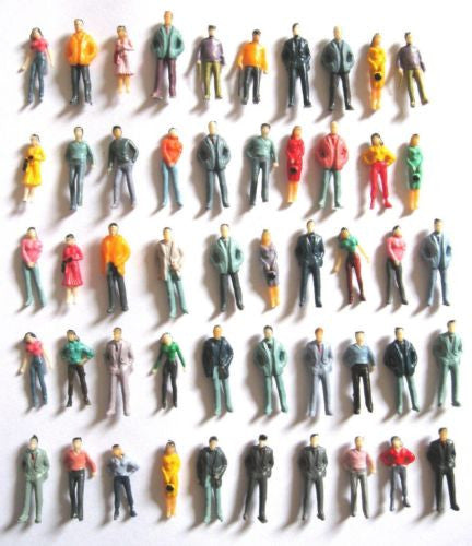 1:75 Scale OO Gauge Model Railway Painted Figures - Pack of 25/50/100