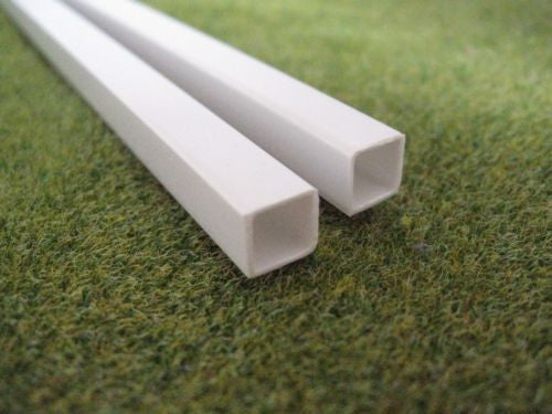 Styrene Plastic Strip: Square Tube Section, 3mm - 10mm