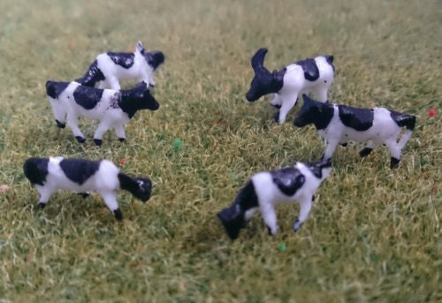 1:150 Scale N Gauge Model Railway Cows - Pack of 6