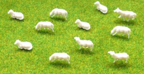 1:87 Scale (HO/OO Gauge Model Railway) Sheep - Pack of 5 or 10