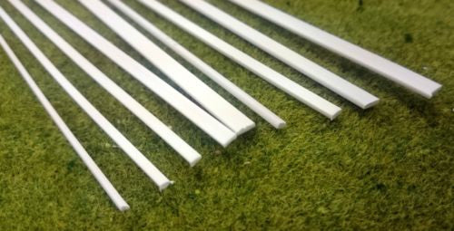 Styrene Plastic Strip: Flat Rectangular Bar Section