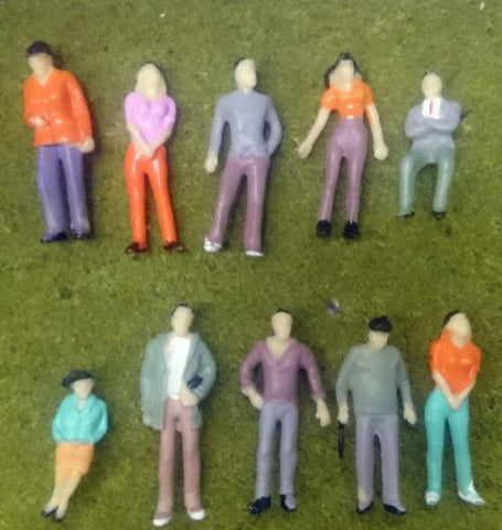 1:43 Scale (O Gauge Model Railway) Painted Figures - Pack of 10 or 25