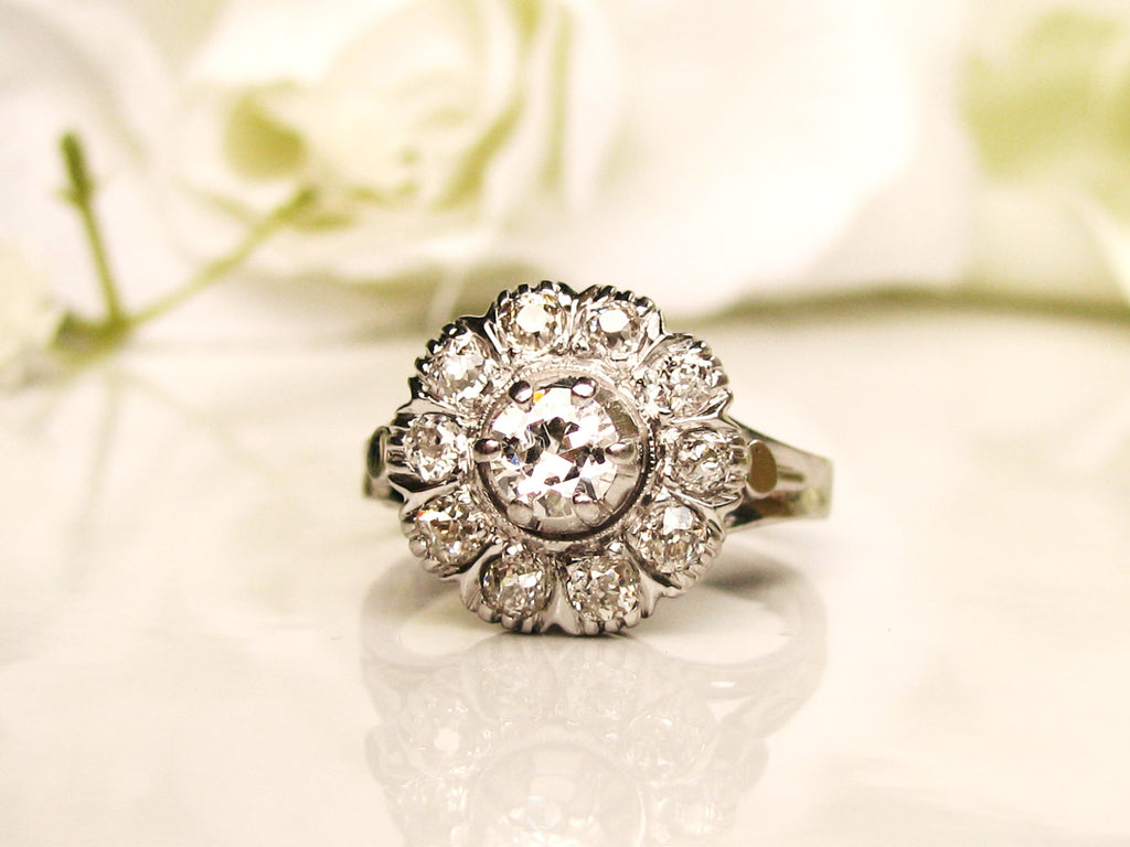 daisy uk diamond style products co engagement gold cluster ring rings