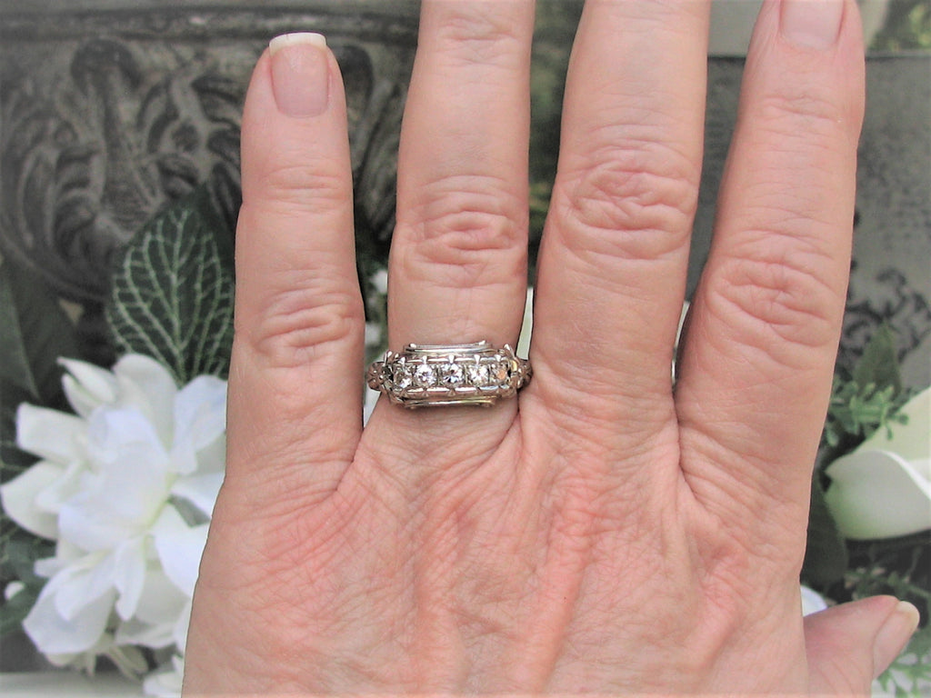 Art Deco Engagement Ring 0.50ctw Old Cut Diamond Wedding Ring 14K ...