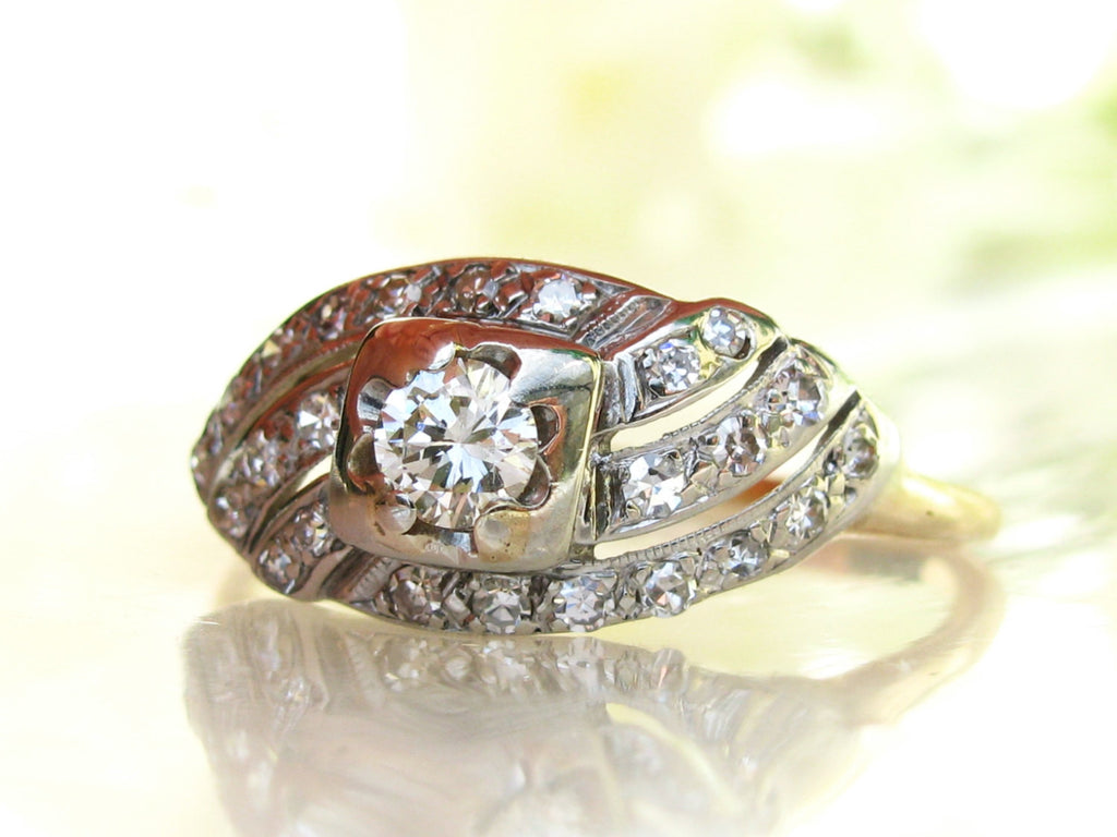 wedding art bezel deco rings il gold forest ring set flower eternity engagement wave rose band swirl diamond fullxfull