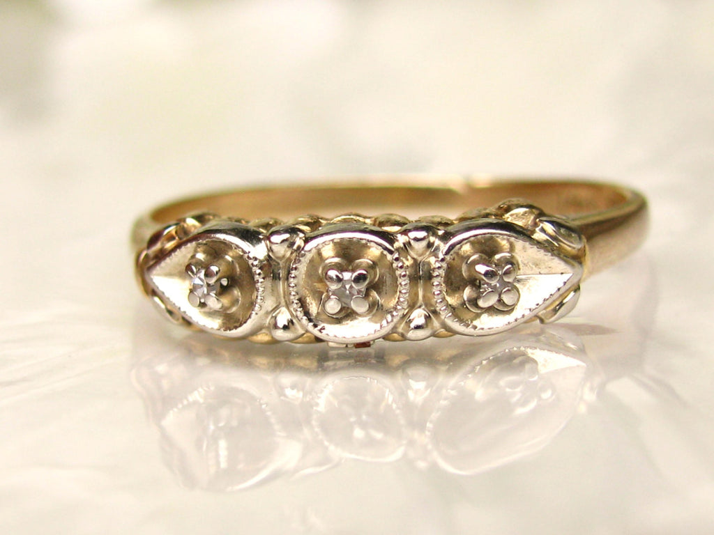 ladies petite fullxfull gold decorative two products band antique size ring bands diamond tone il wedding