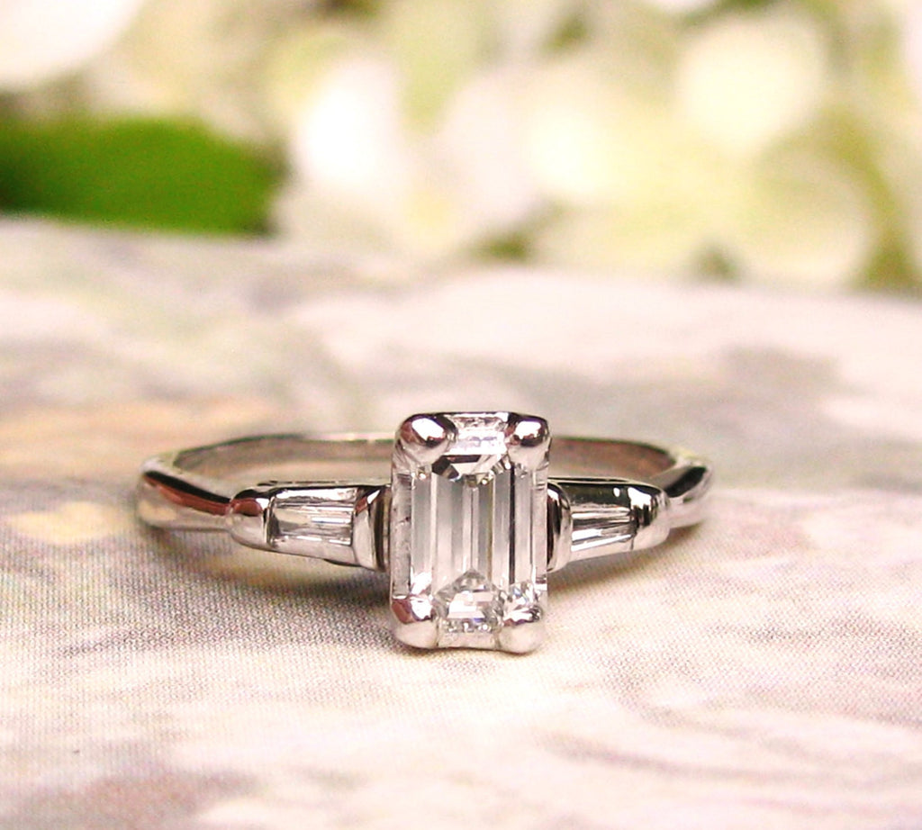 diamond engagement cut rings hand princess custom ring and baguette wedding