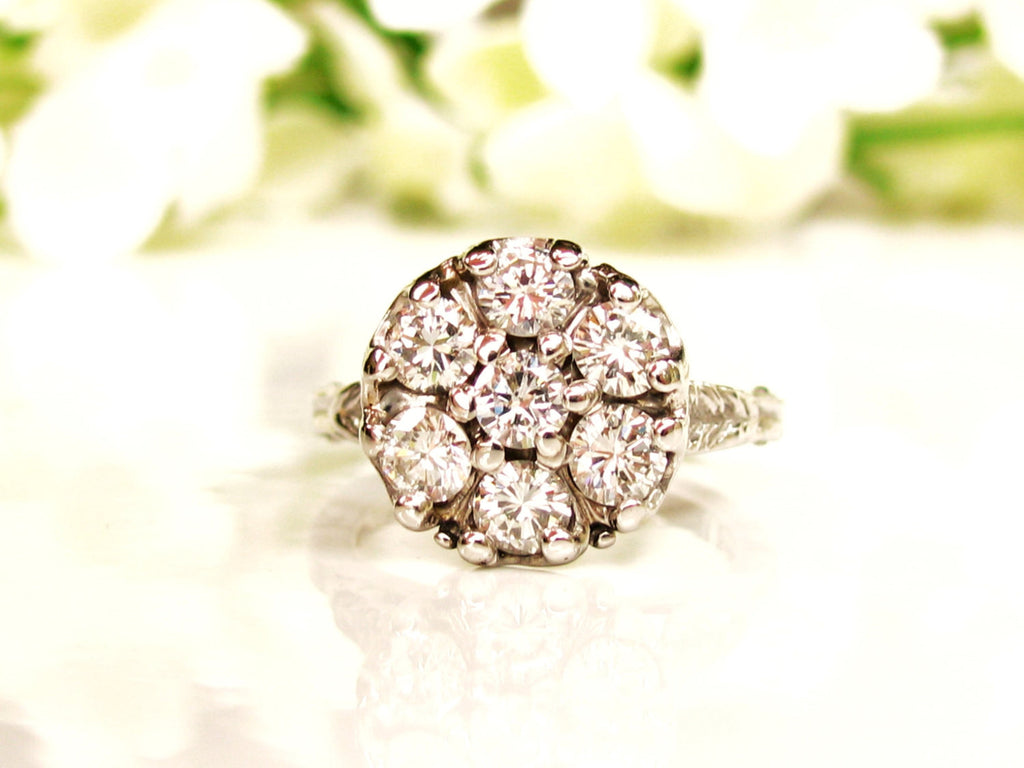 band filigree deco rings antique art ring cut set wedding diamond european engagement pin