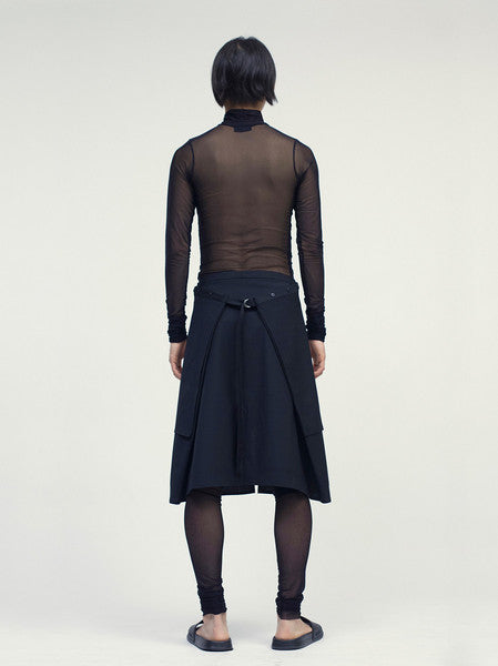 (In)Difference Apron Skirt Black