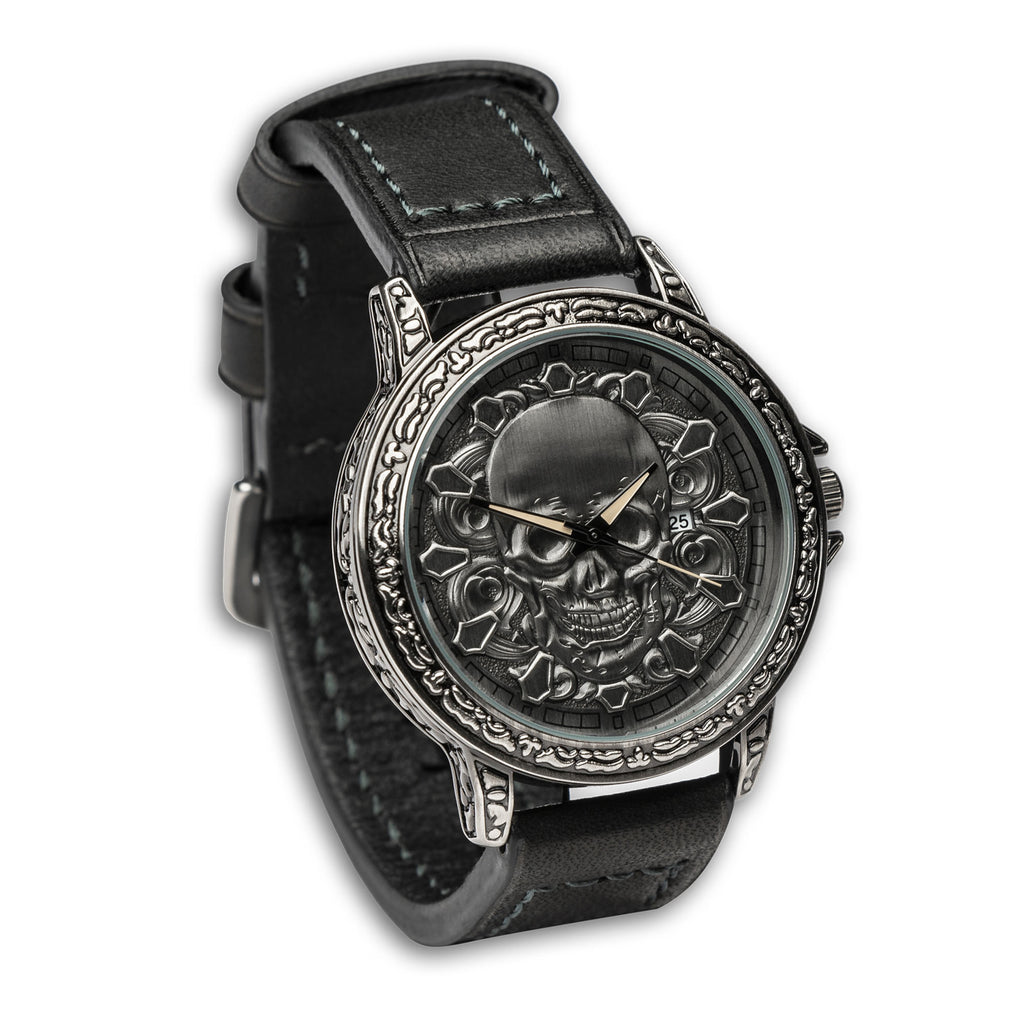 3D Carved Skull Unisex Watch