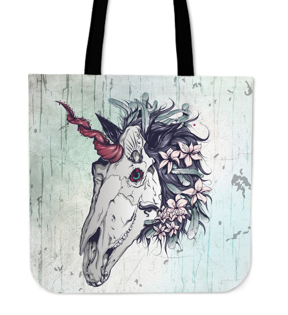 Skullistic Unicorn Skull Tote Bag
