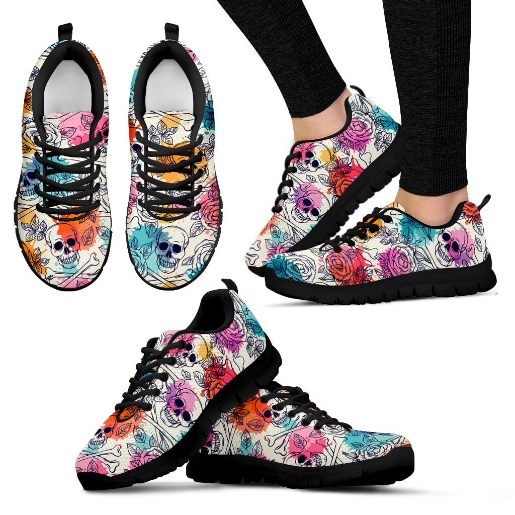 Brusher Skulls Women`s Sneakers