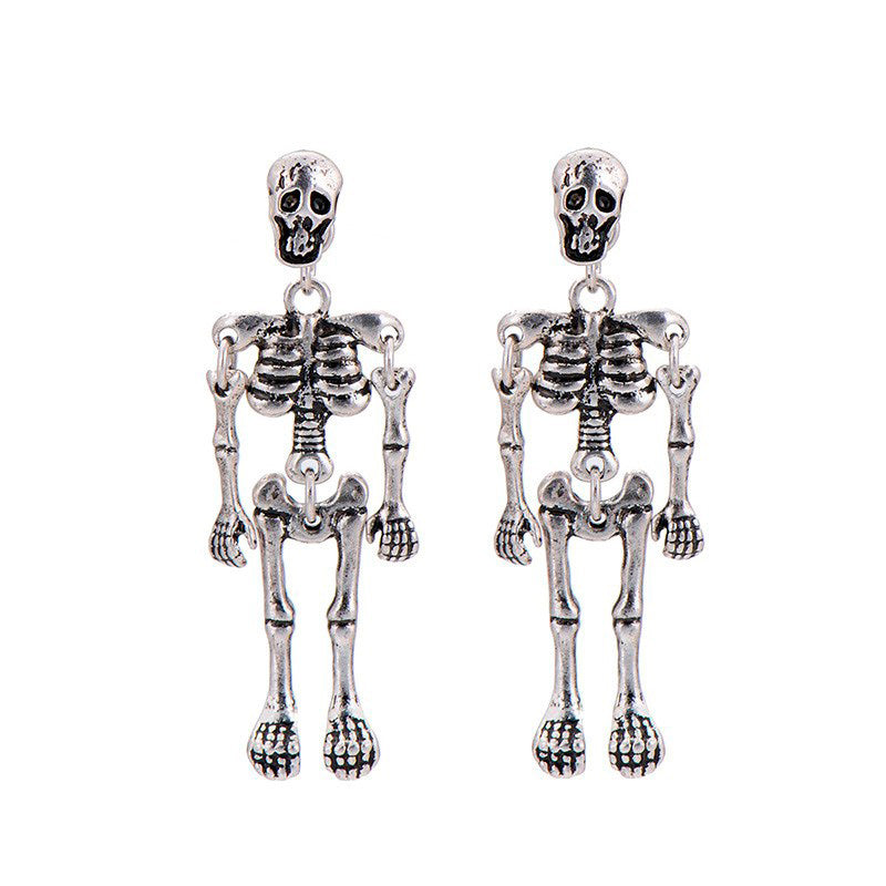 Skeleton Drop Earrings