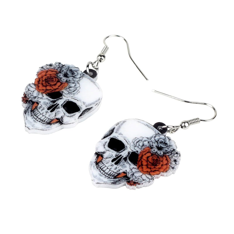 All Or Nothing Skull Earrings