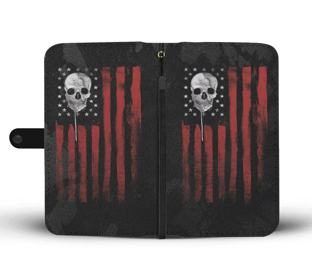 American Skull Nation Phone Wallet Case