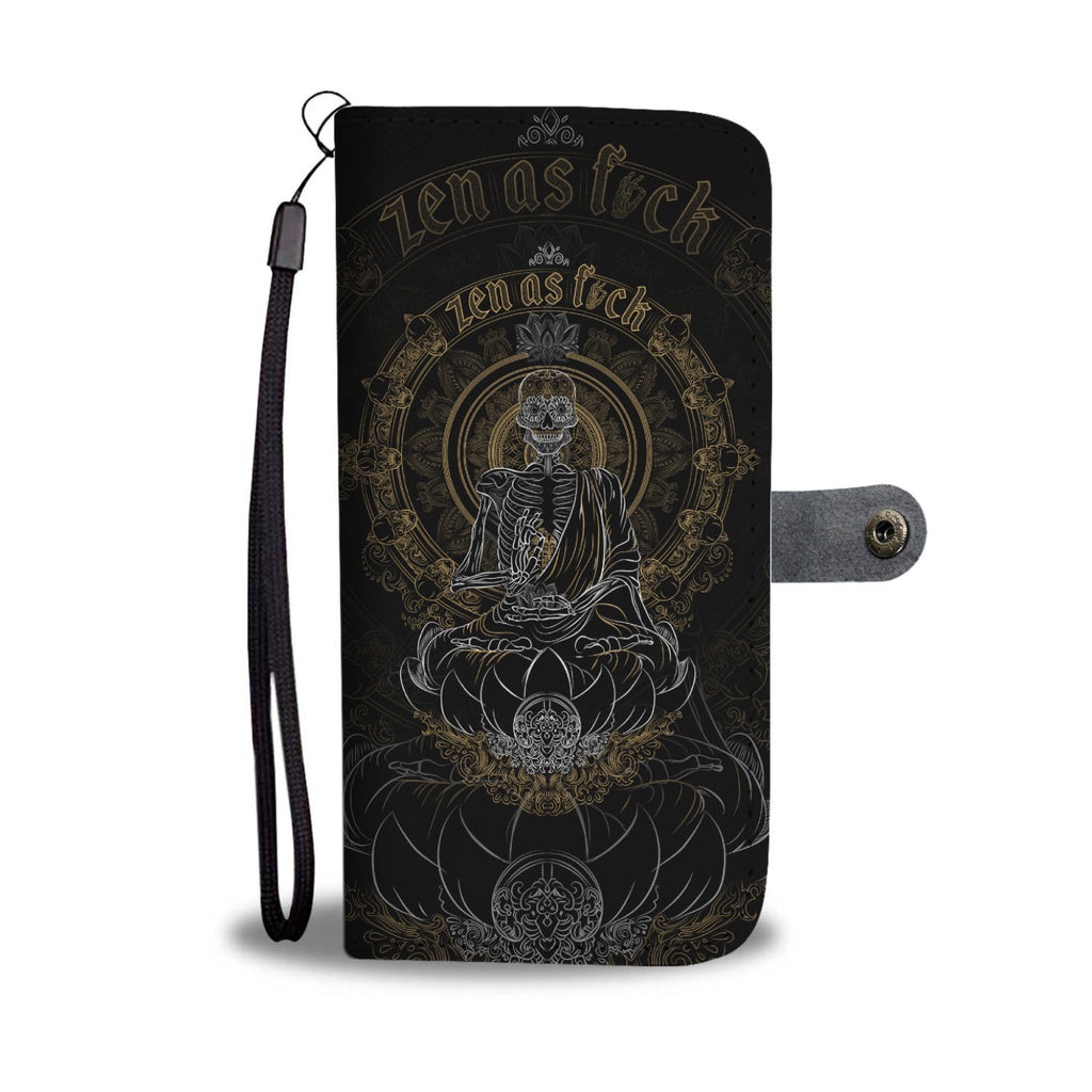 Skullistic Zen Meditating Skeleton Wallet Phone Case