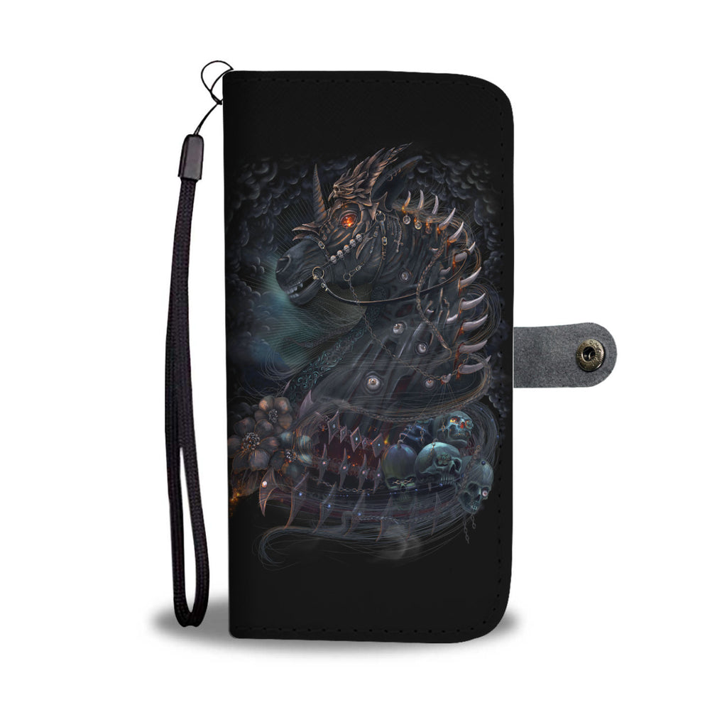 Skullistic Undead Unicorn Wallet Phone Case