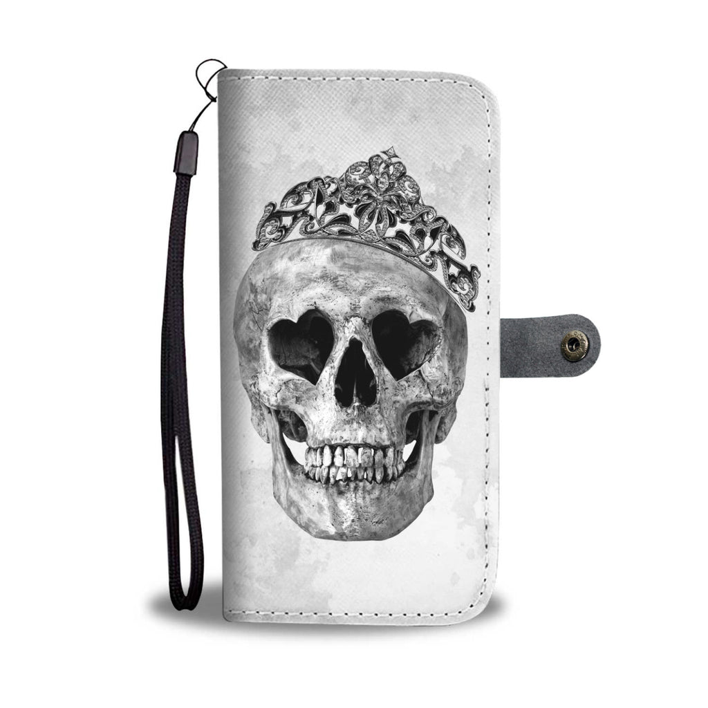 Skullistic Queen Skull White Wallet Phone Case
