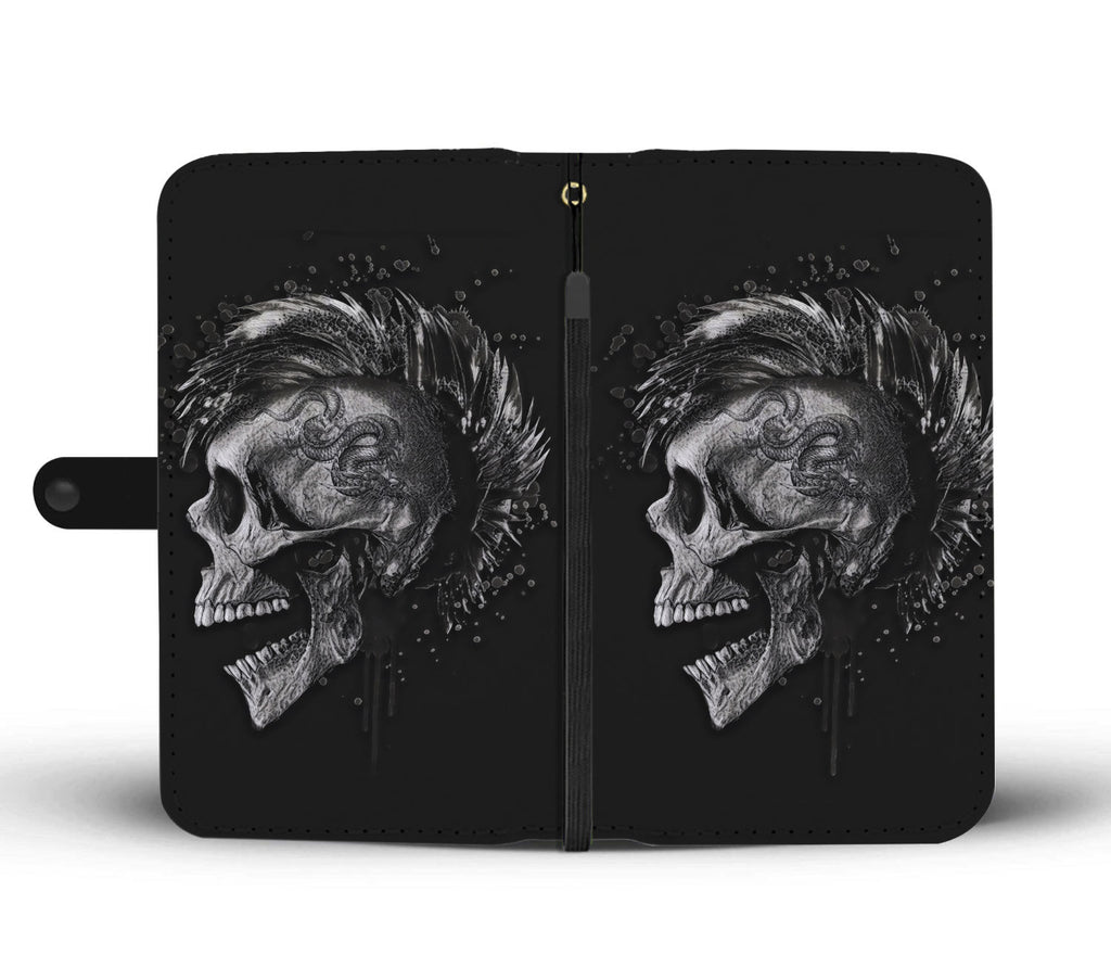 Punk Skull Phone Wallet Case