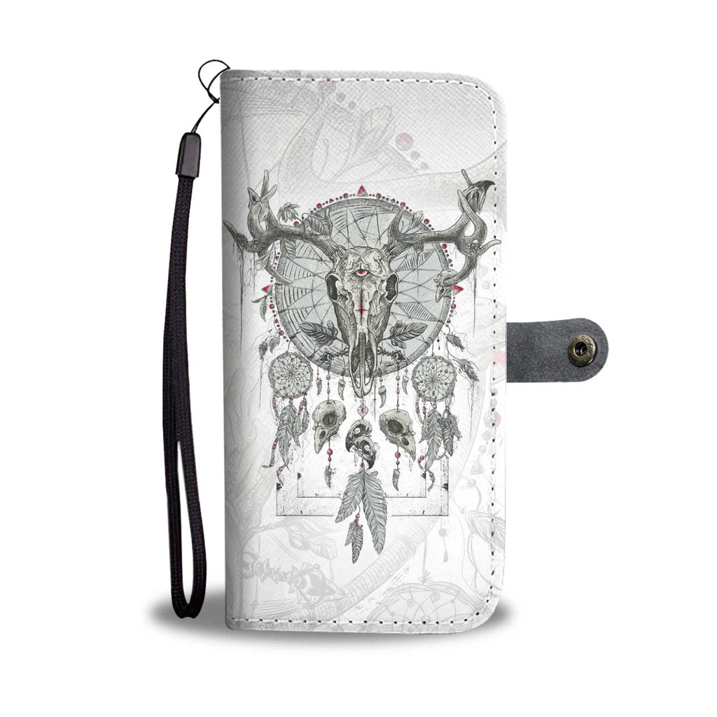 Deer Skull Dream Catcher Phone Wallet Case