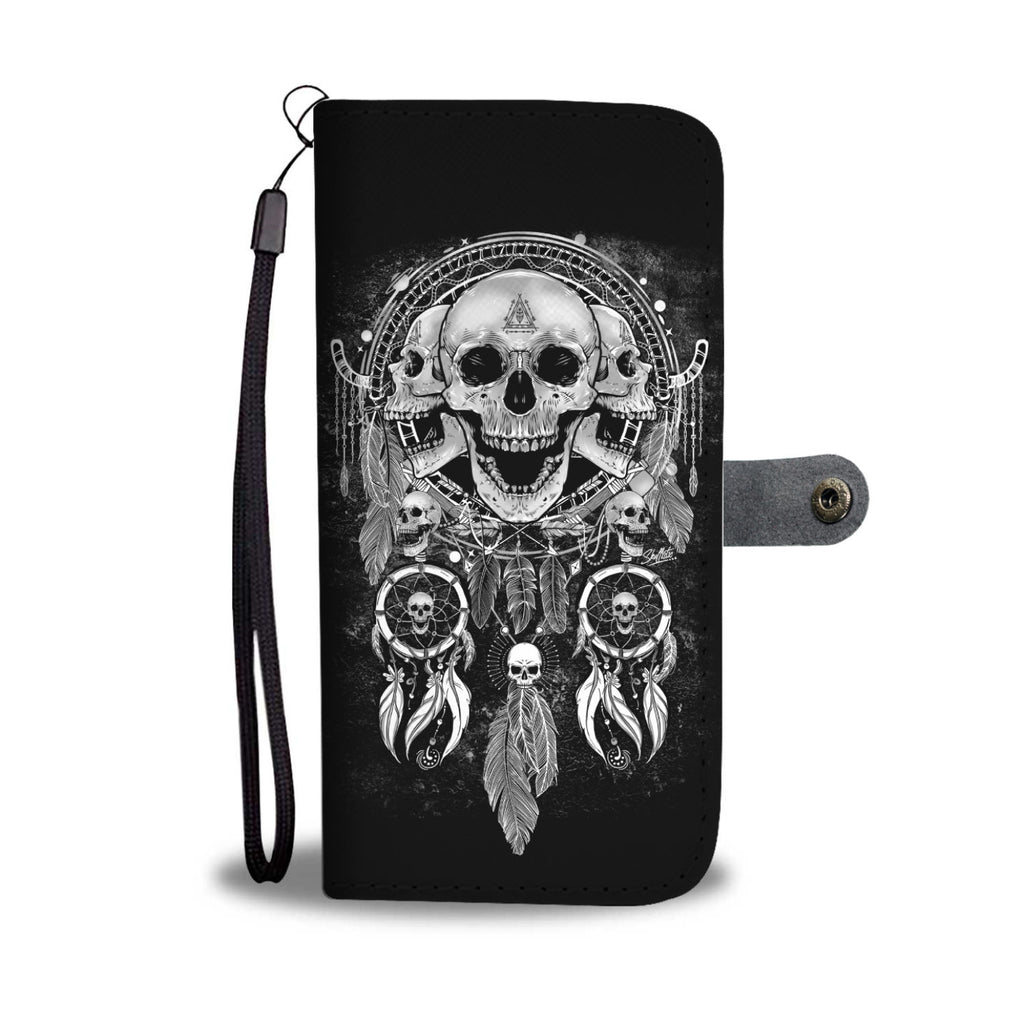 Skull Dream Catcher Phone Wallet Case
