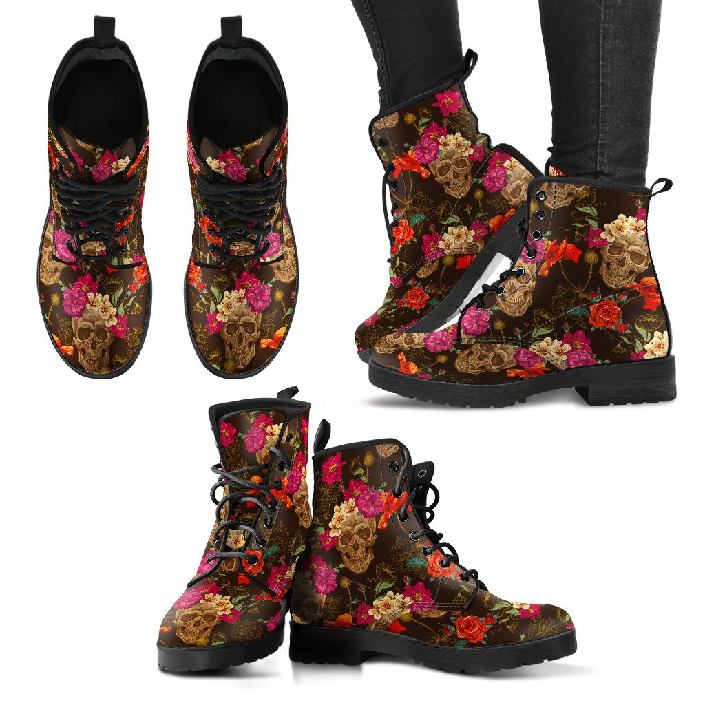 Autumn Skulls Women's Boots