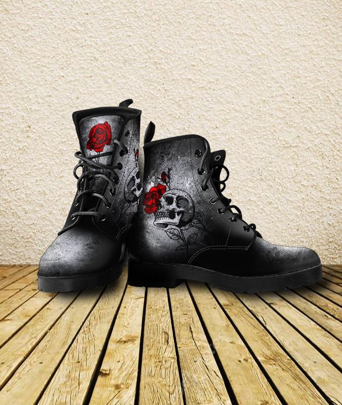 Skullistic Death Rose Boots