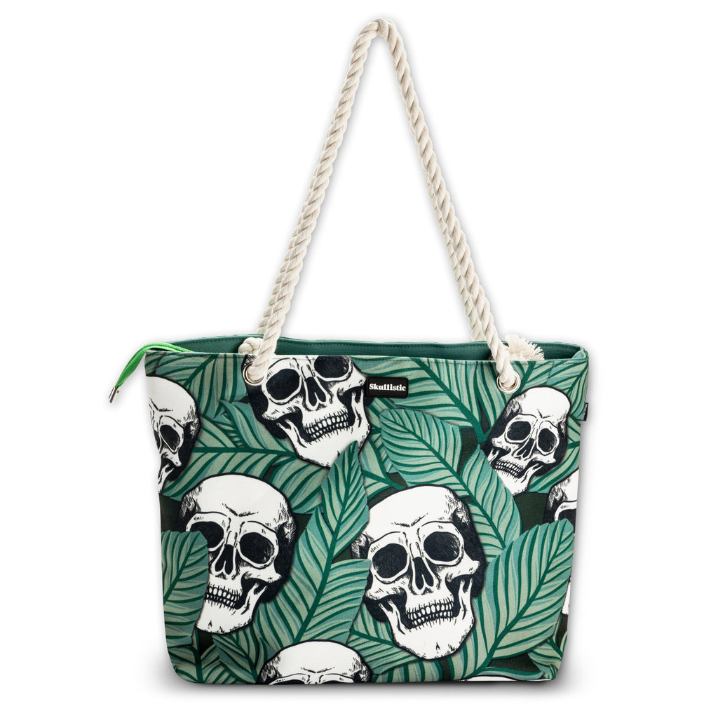 Tropic Skulls Shoulder Beach Bag