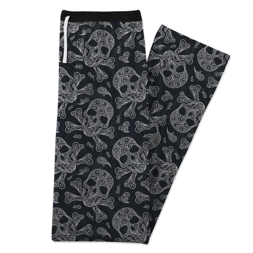 Skullistic Skulls And Bones Cotton Pajama Pants folded