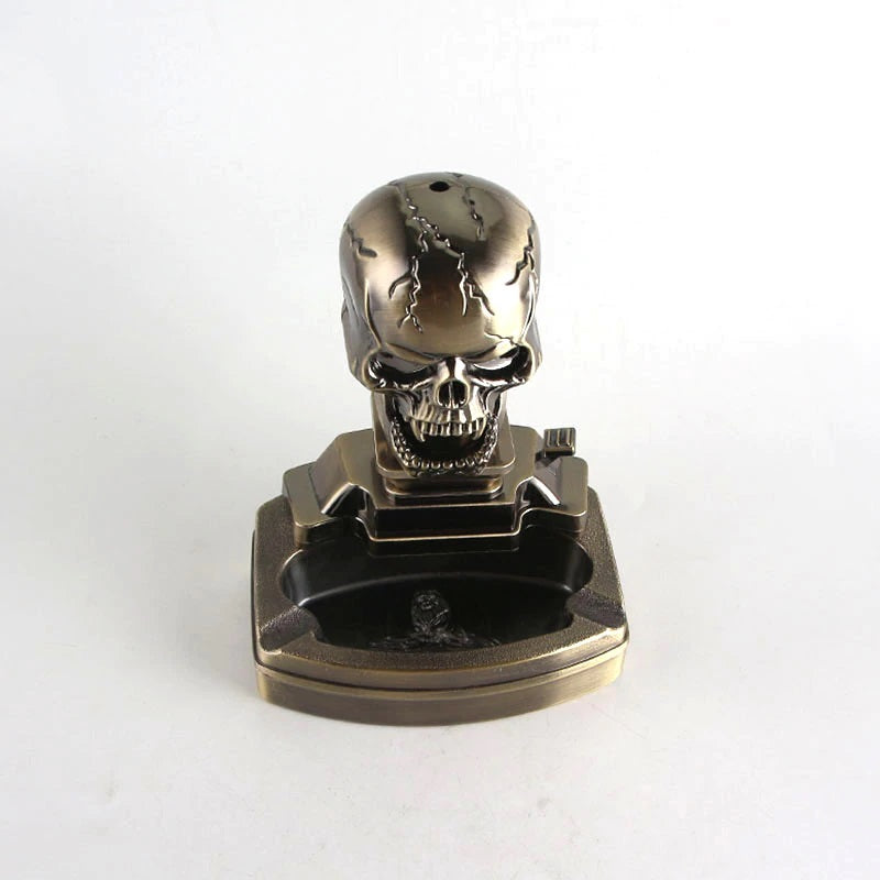 Skull Ashtray and Lighter
