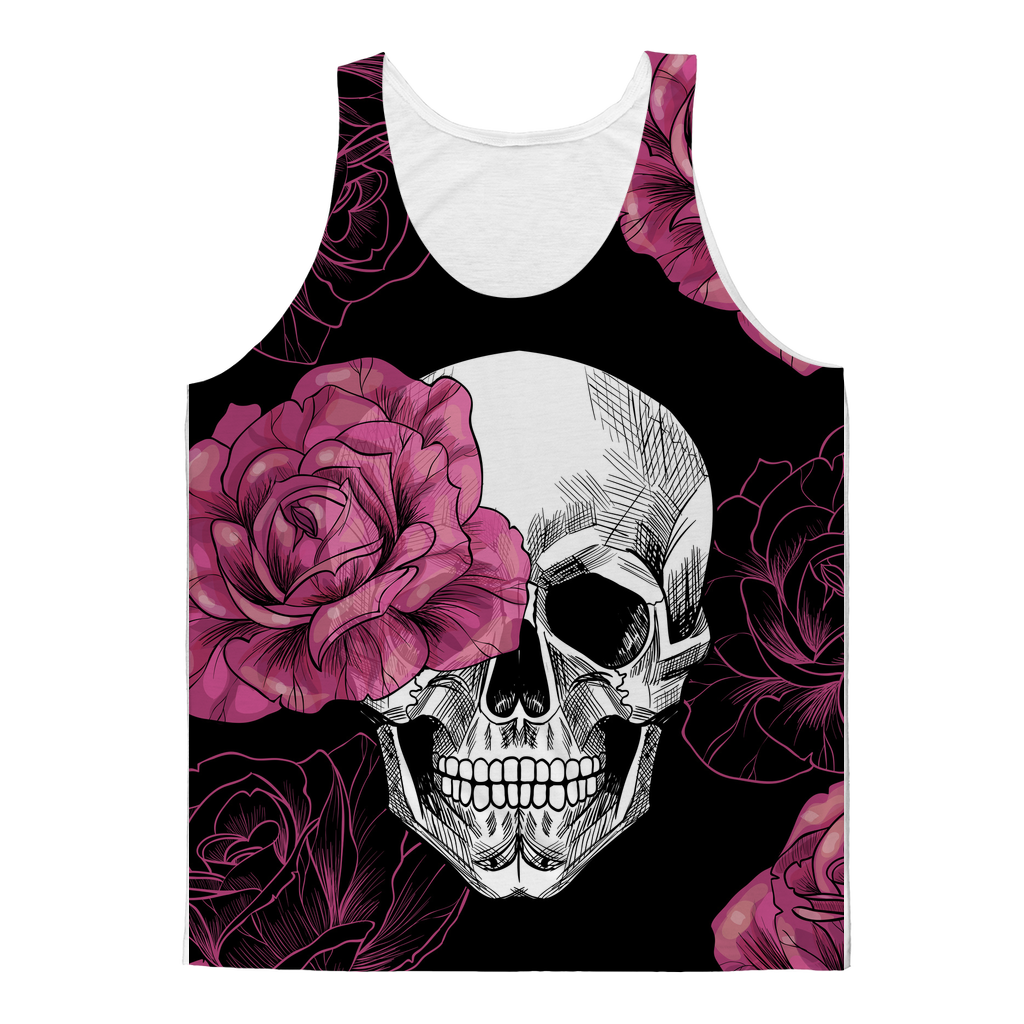 Rose Skull Sublimated Tank Top