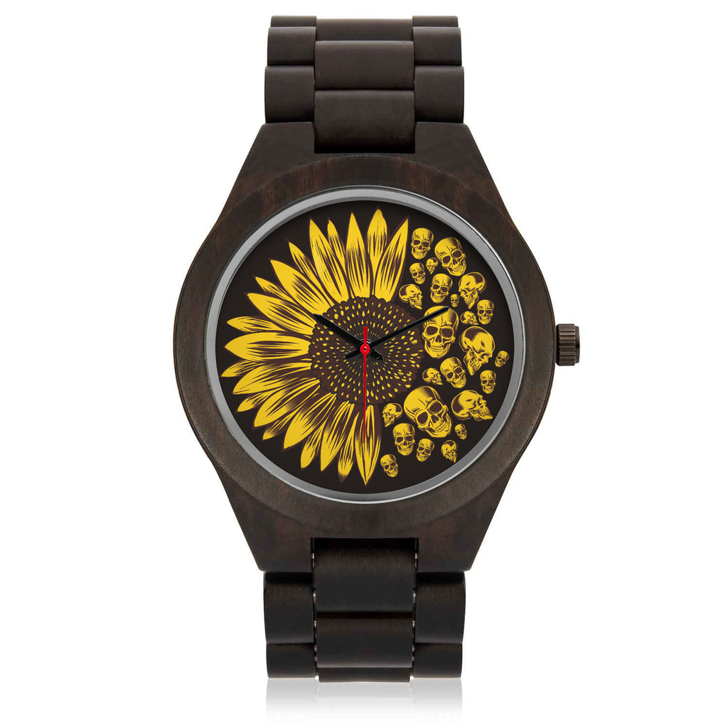 Sunflower You Are My Sunshine Custom Wood Watch
