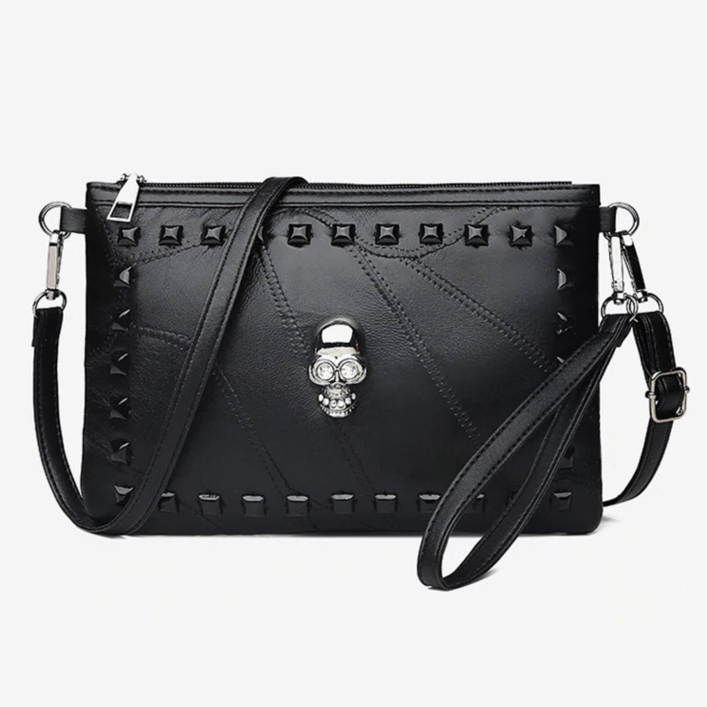 Skull Crossbody Leather Purse