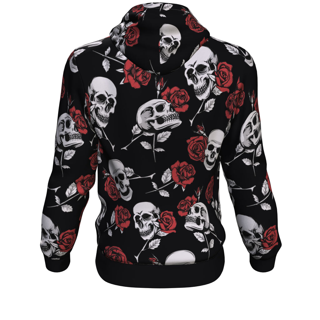 Death Rose Skull All Over Print Unisex Hoodie