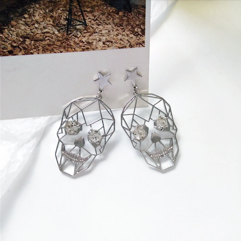 Skull Star Earrings