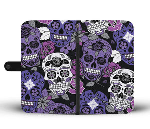 Skullistic Sugar Skull Pattern Purple Phone Case