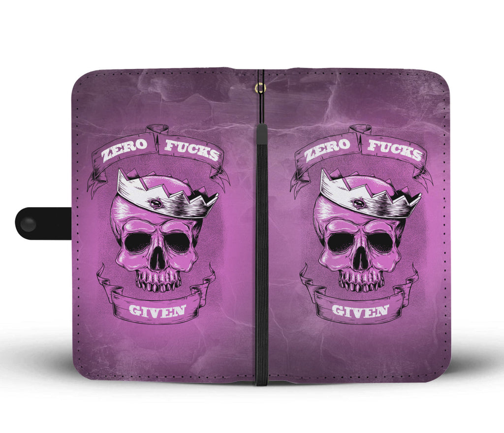 Zero F*ck Given Purple Phone Wallet Case