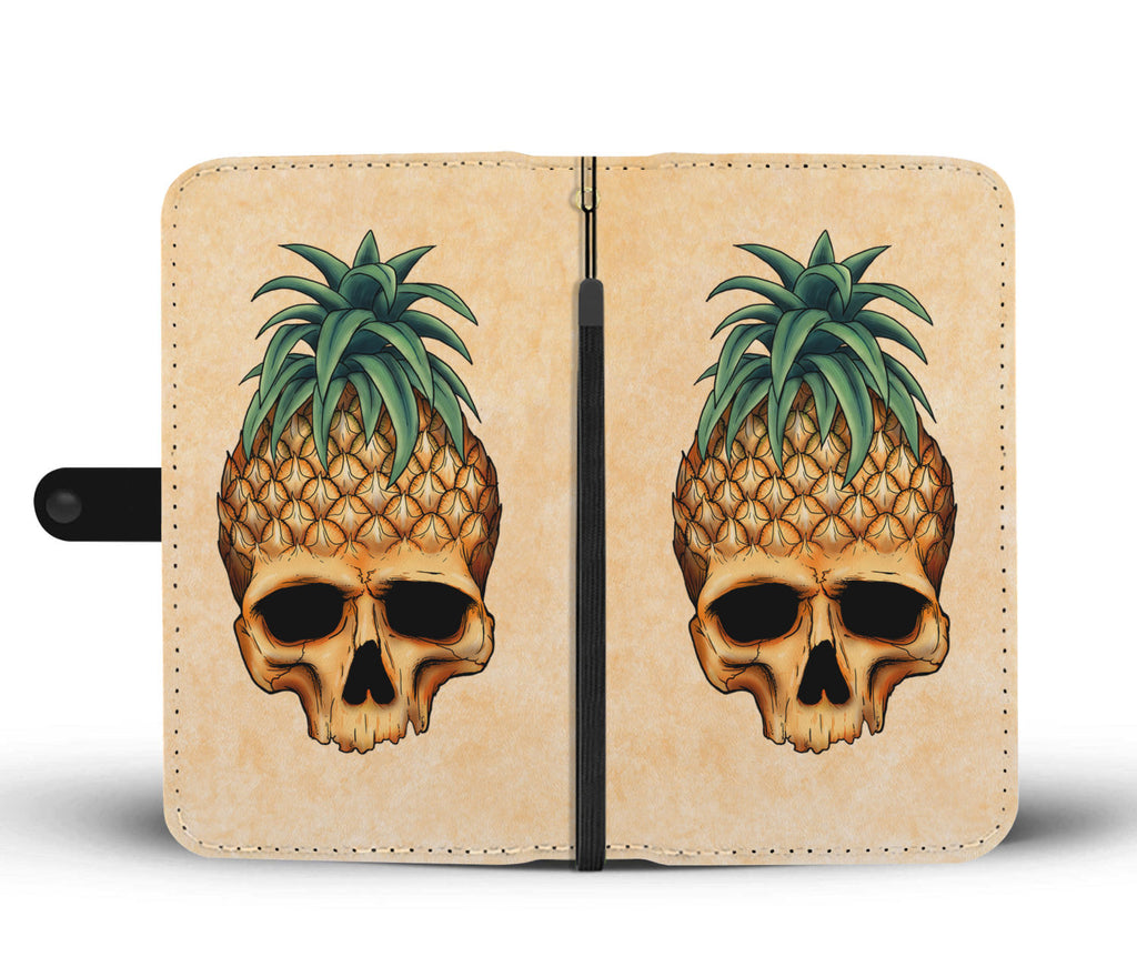 Skullistic Pineapple Skull Wallet Phone Case