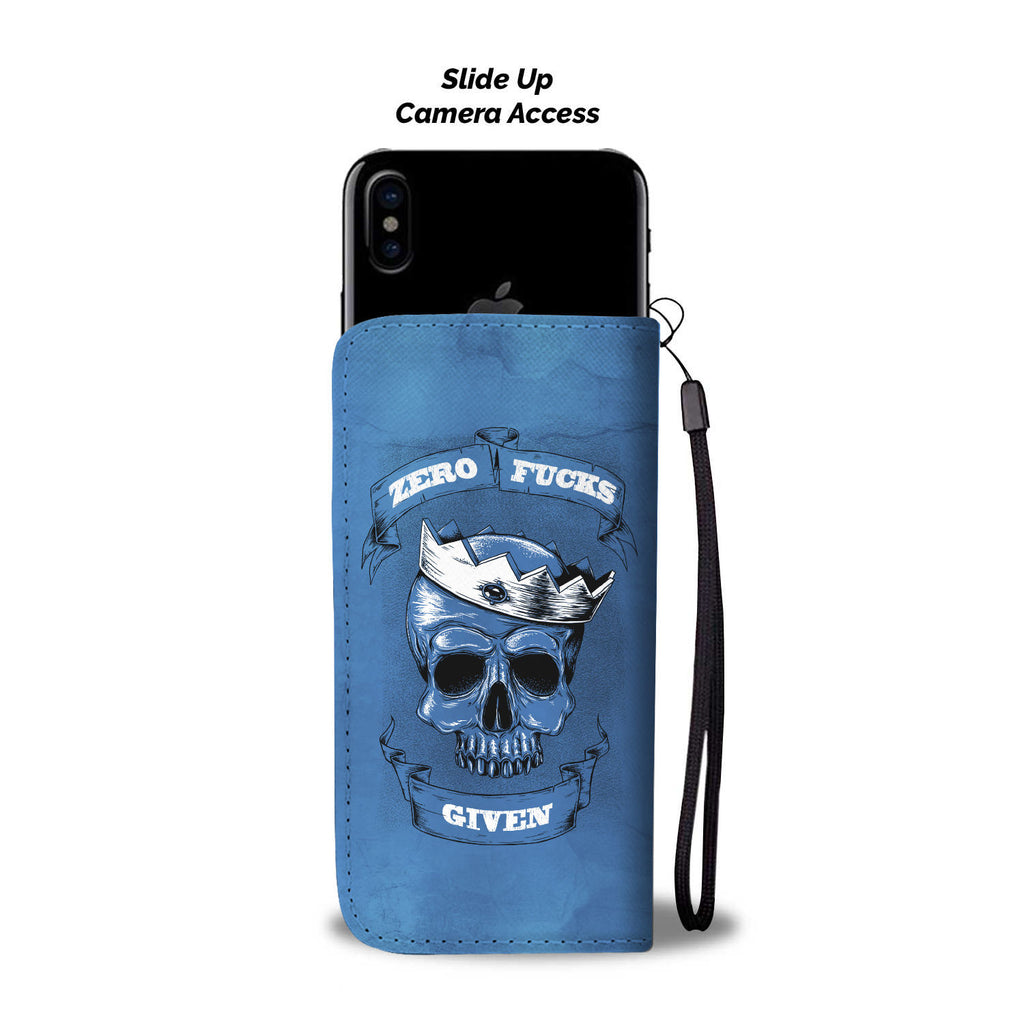 Zero F*ck Given Blue Phone Wallet Case