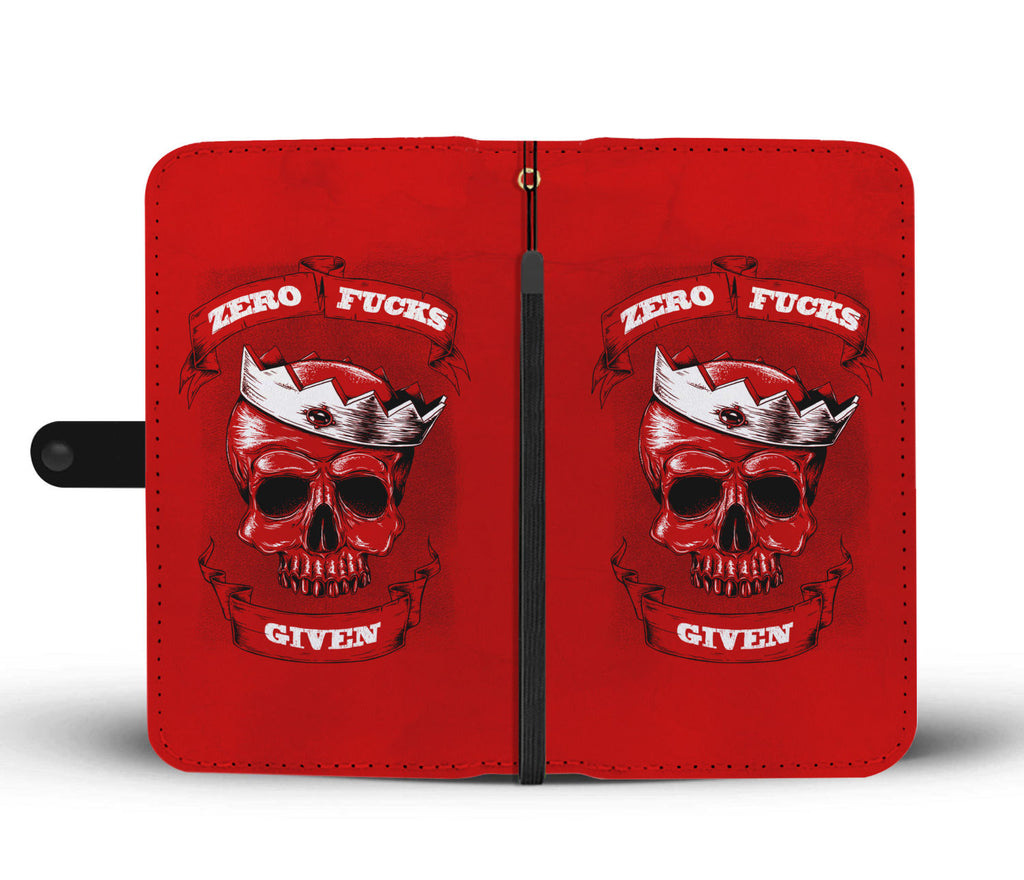 Zero F*ck Given Red Phone Wallet Cover