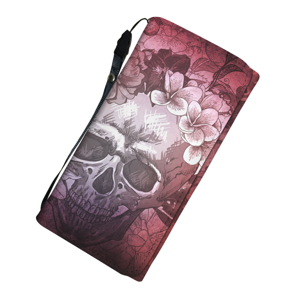 Ruby Red Skull Phone Women's Wallet