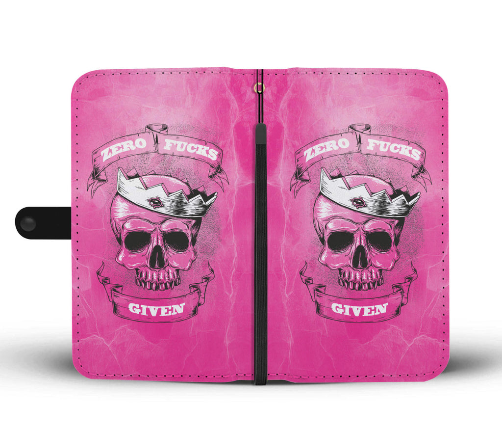 Zero F*ck Given Hot Pink Phone Wallet Case