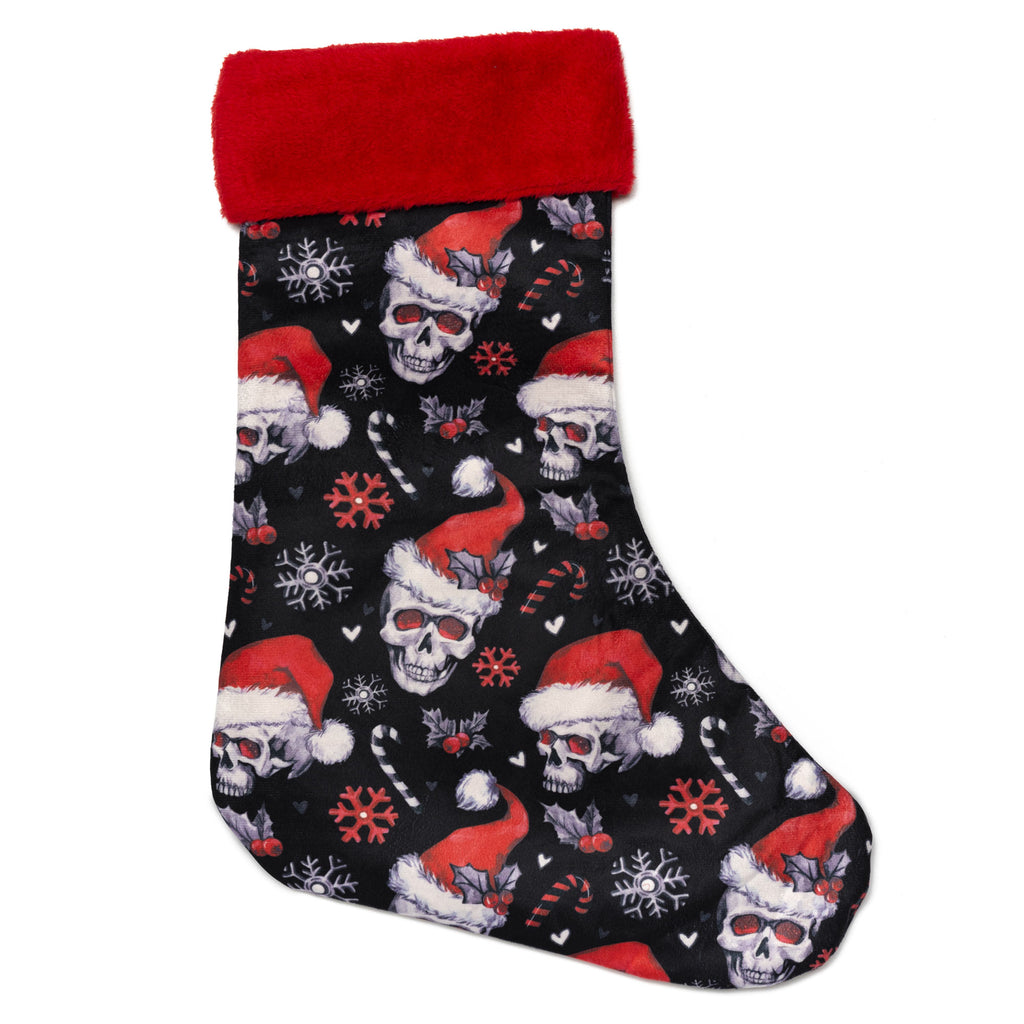 Santa Skulls Christmas Stockings on white background