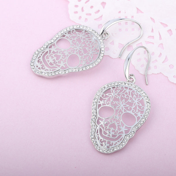 Sugar Skull Drop Earrings
