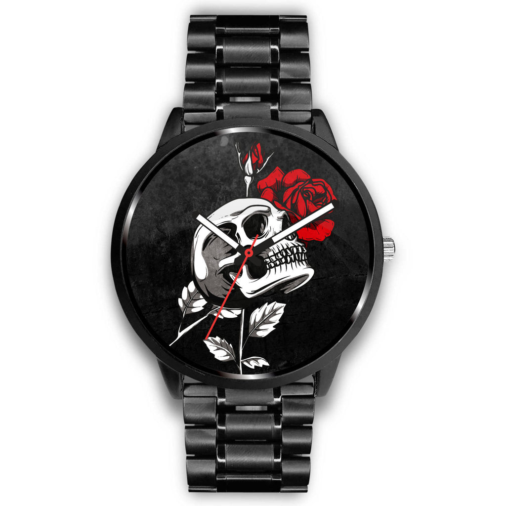 Death Rose Skull Watch