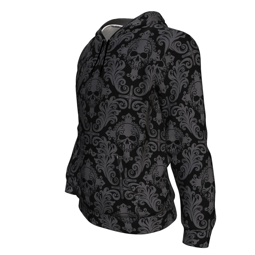 Gothic Skull All Over Print Unisex Hoodie