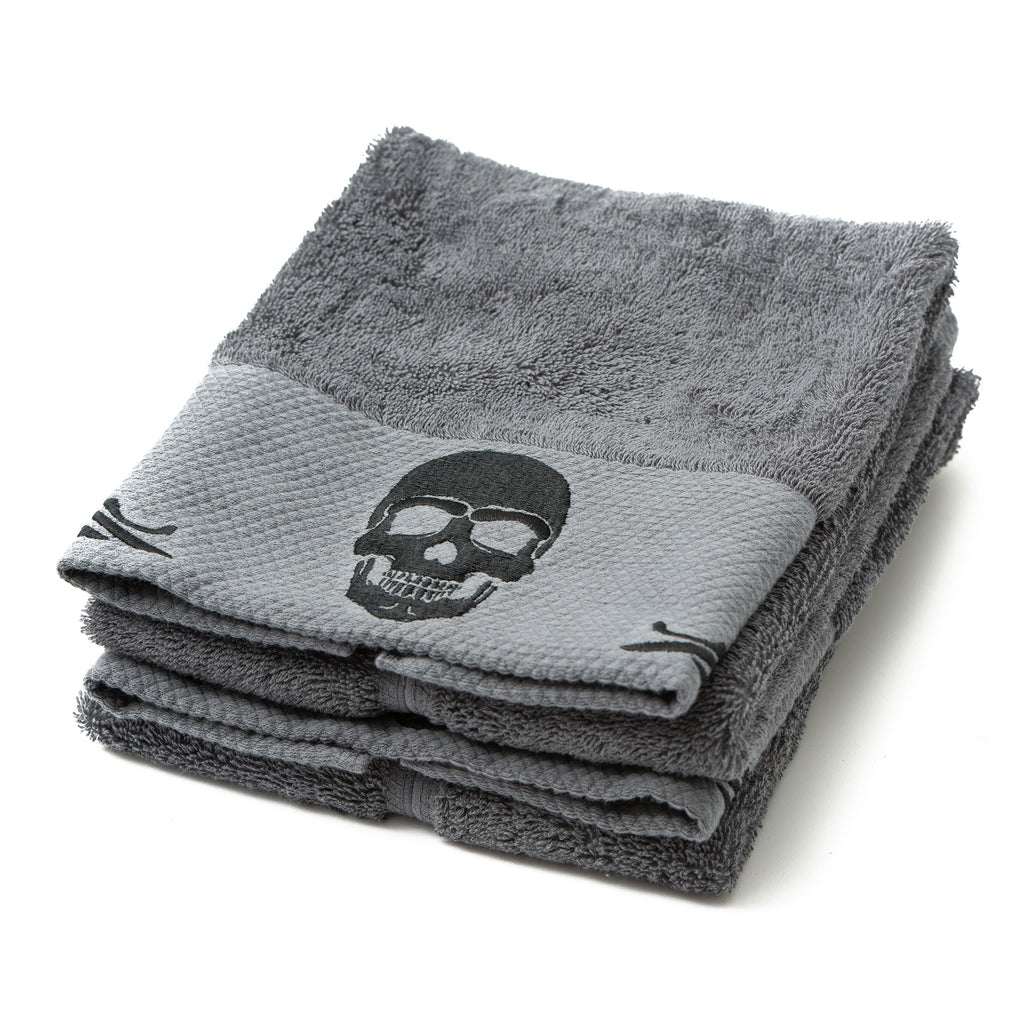 Gothic Skull Embossed Hand Towel Set