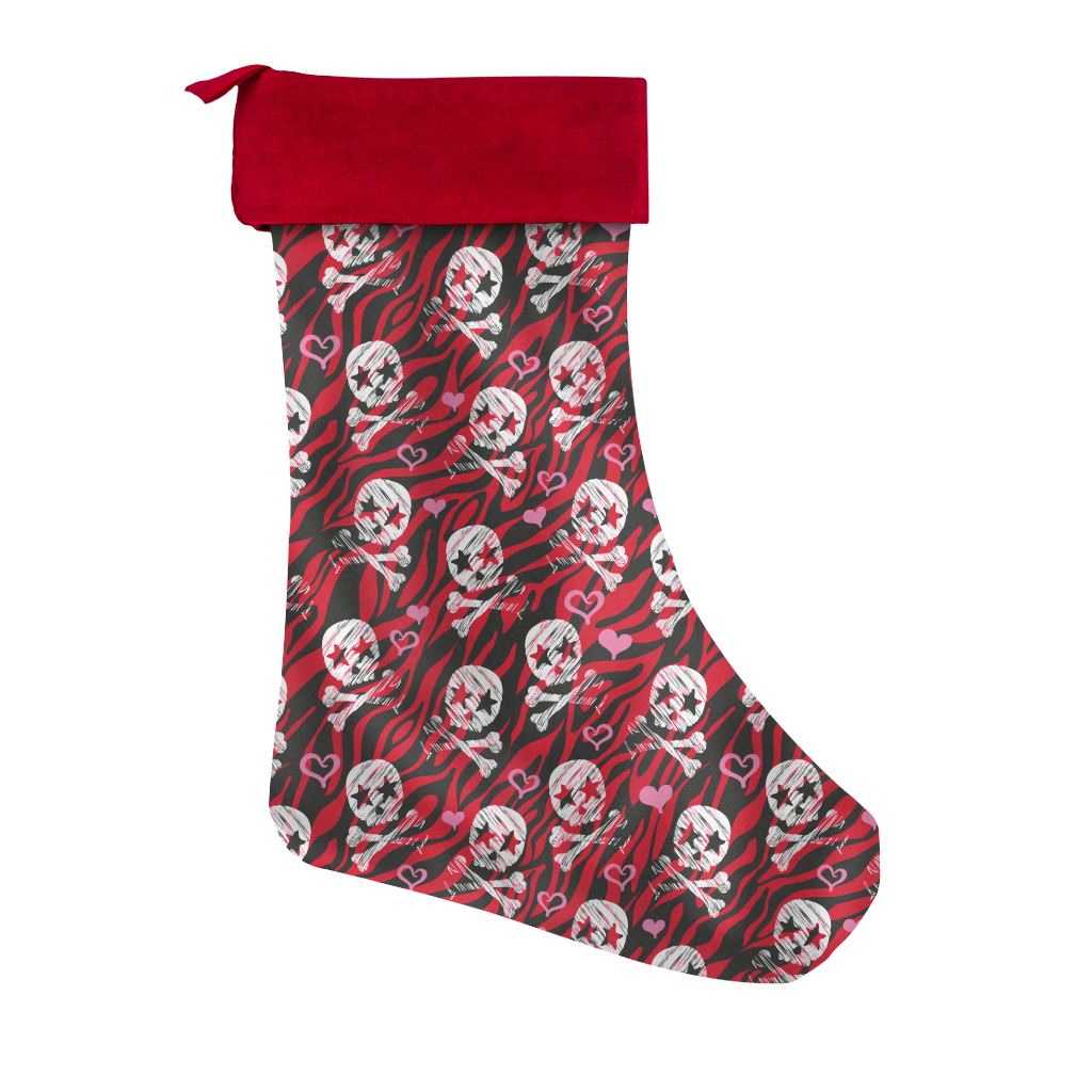 Holly Jolly Skulls Christmas Stocking