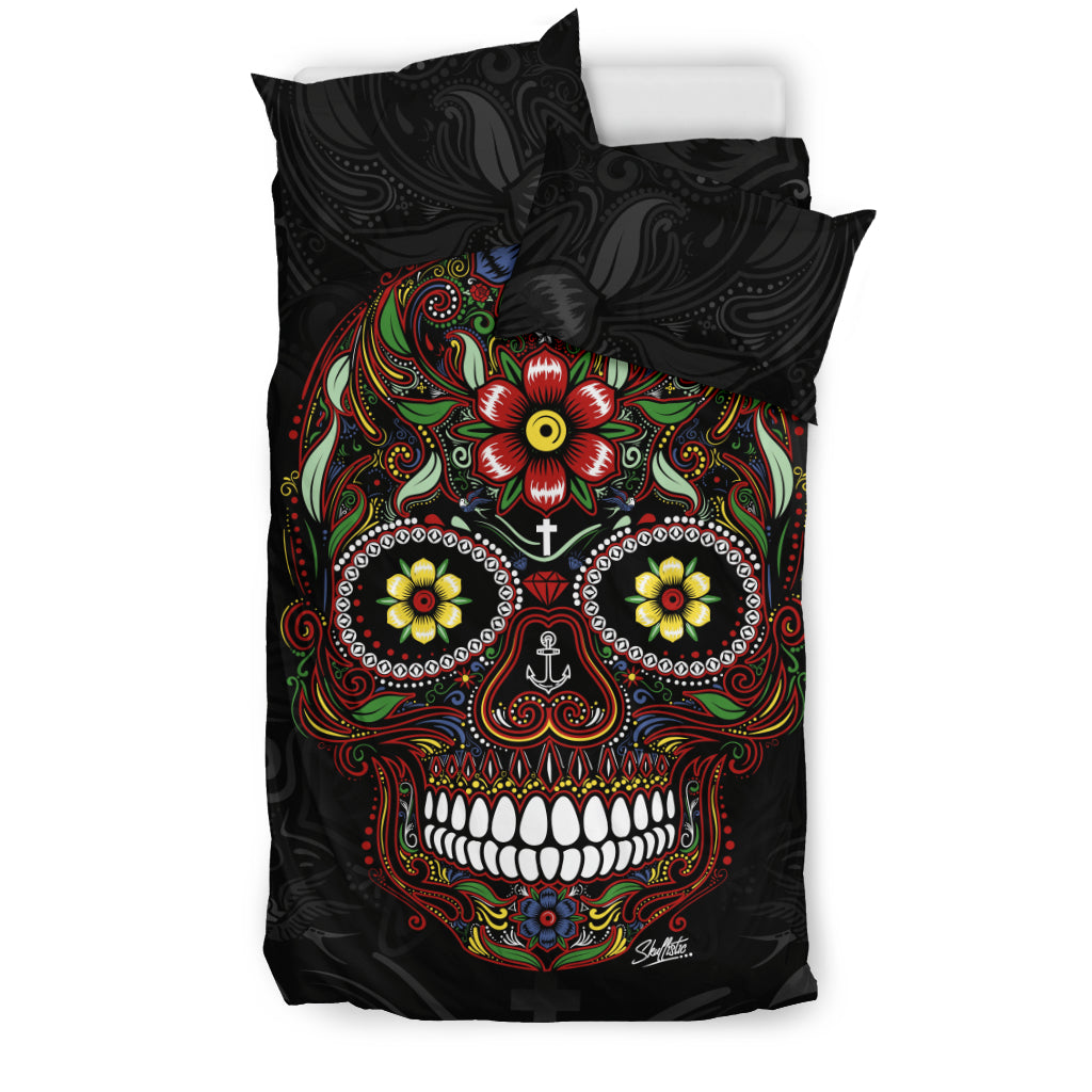 Calavera Sugar Skull Duvet Cover Set